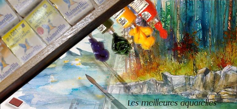 Peinture aquarelle godet maimeri bleu, édition pigments minéraux et gomme arabique, fabriquées europe